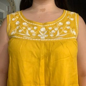 Old Navy Yellow Mexican Style Tank Top